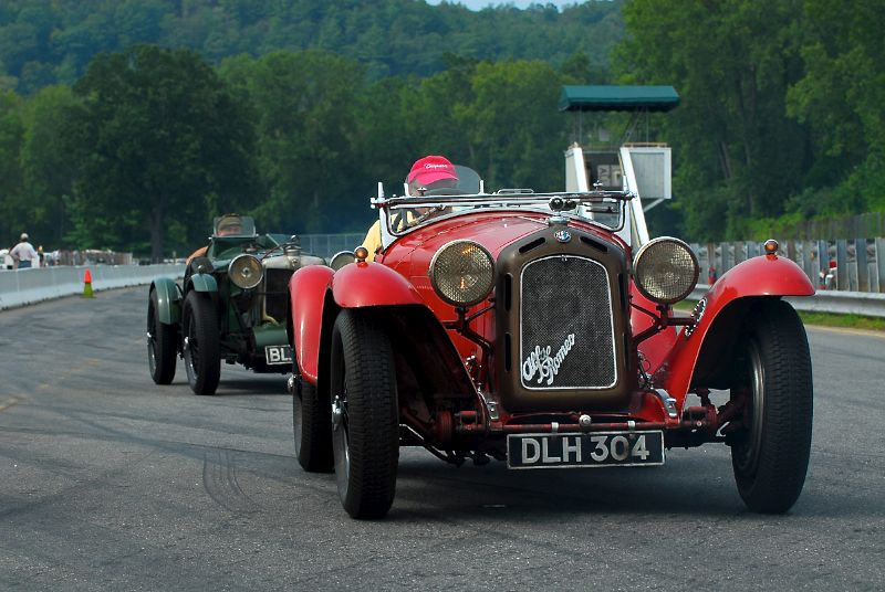 Dr. Fred Simeone in his Alfa Romeo 8C 2300 and the 1934 MG K3 Magnette.