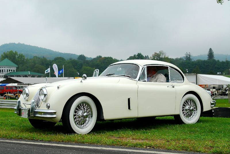 Jaguar XK120- in the club area.