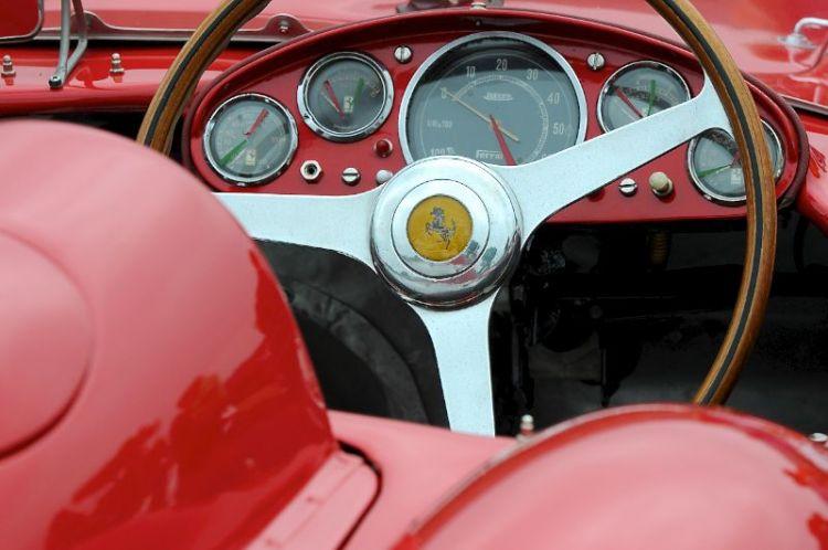 Detail- 1956 Ferrari 500 TR Prototype, Bill Binnie.