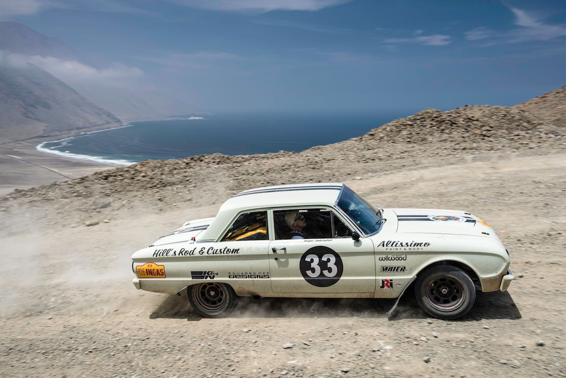 Car 33 Marco Halter(CH) / Claudia Engelhardt(D)1963 - Ford Falcon Coupe, Rally of the Incas 2016