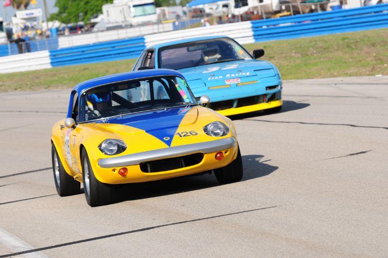 Philip Needs- 1966 Lotus Elan. - Michael Finn- 1989 Nissan 240SX.