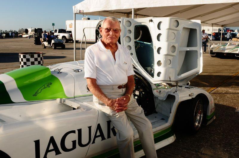 Bob Tullius- with the Jaguar XJR7.