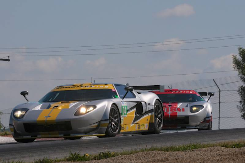 David (#04) and Andrea Robertson- 2006 Ford GT Mk VII.