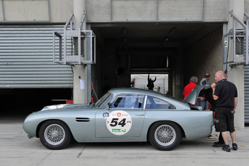 Aston Martin DB4 GT at Le Mans Classic 2012