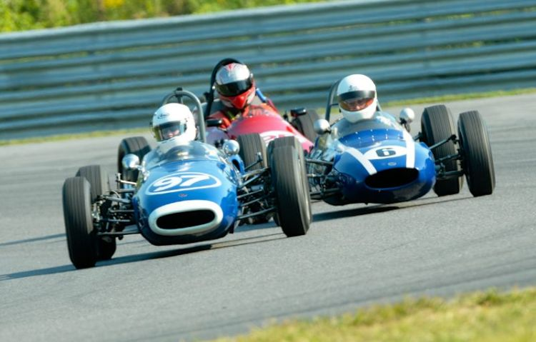#97- Sharon Adelman 1963 Brabham BT6- #6- 1962 Cooper T59FJ with Jac Nellerman.