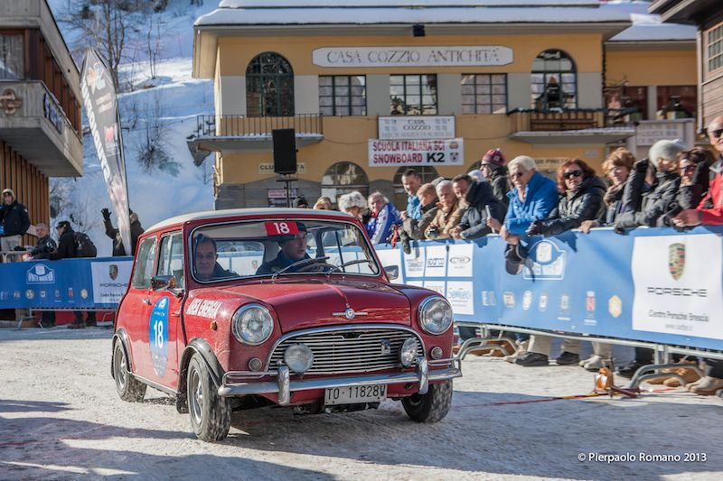 1965 Morris Mini Cooper S, winners of the Winter Marathon Rally 2013