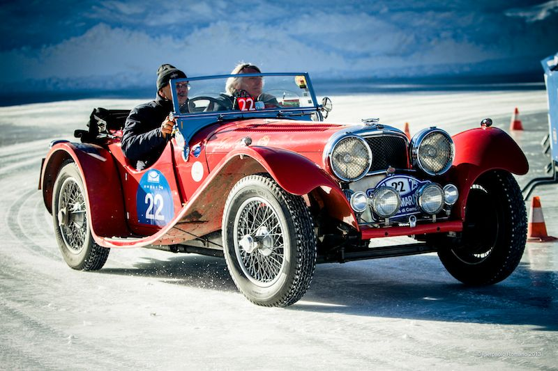 1938 Jaguar SS100 - Winter Marathon Rally 2013