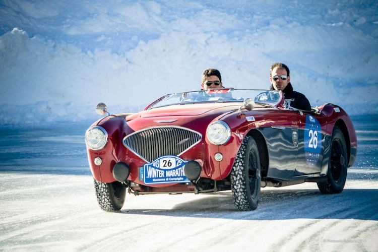 1955 Austin-Healey 100/4 BN1 - Winter Marathon Rally 2013