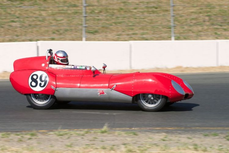 1956 Lotus Eleven driven by John Hurabiell in turn four.