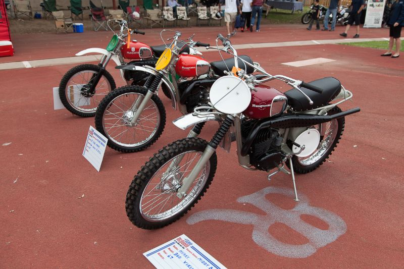 A trio of Husqvarnas.