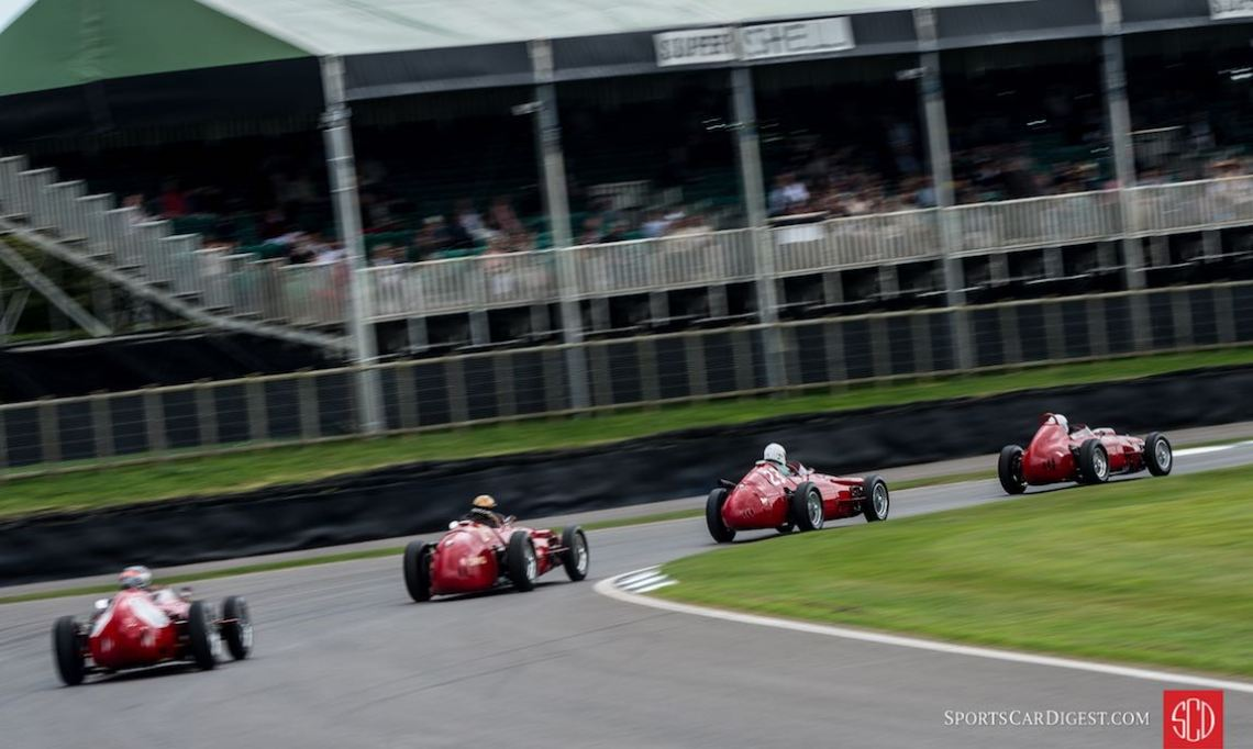 Lots of Italian red in the Richmond Trophy at Goodwood Revival (photo: Julien Mahiels)