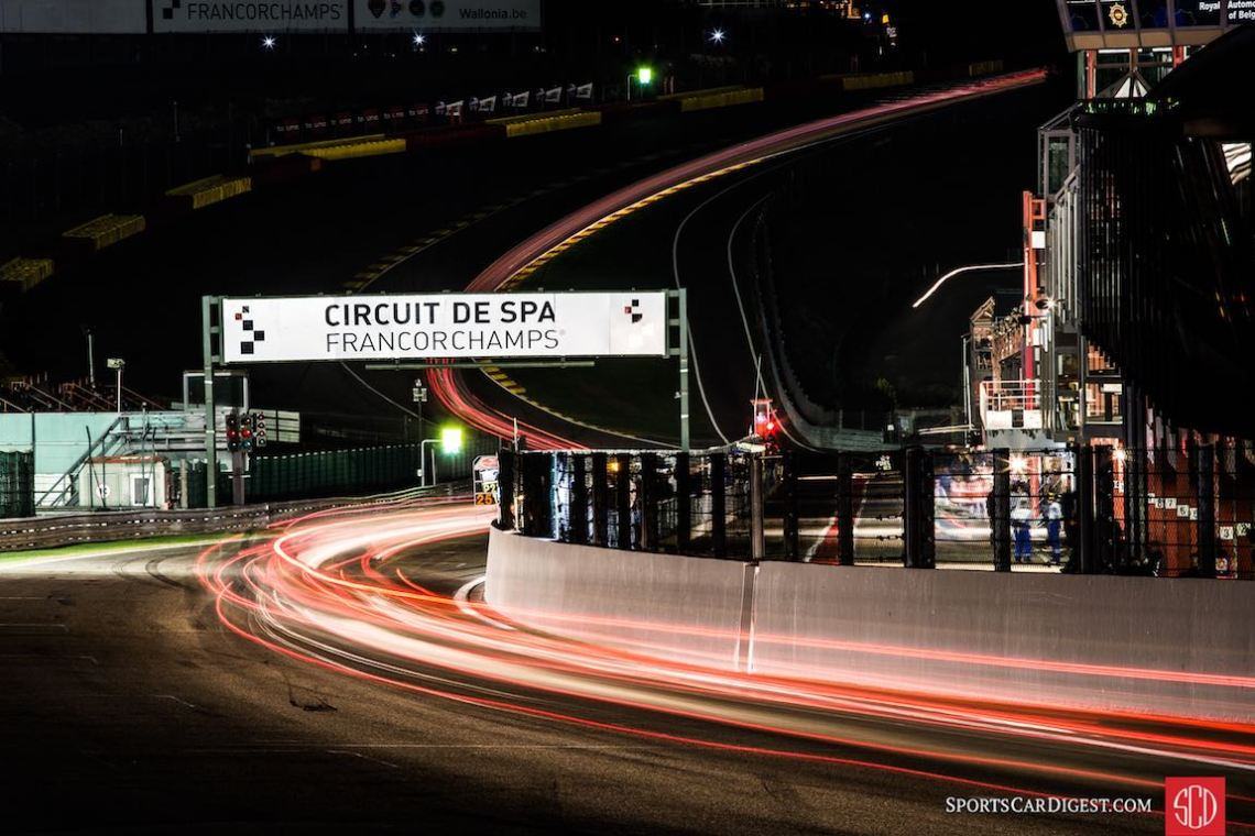 Spa Six Hours at night (photo: Matt White)