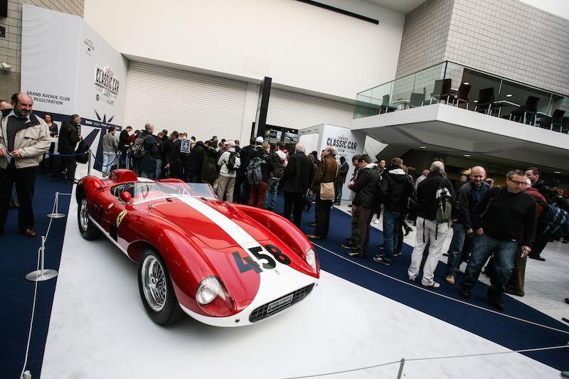 Ferrari graced the entrance at ExCeL