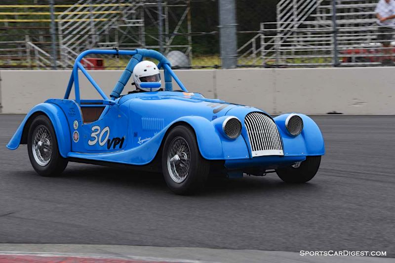 John Woodward's Morgan Plus 4 at Portland Historic Races 2015