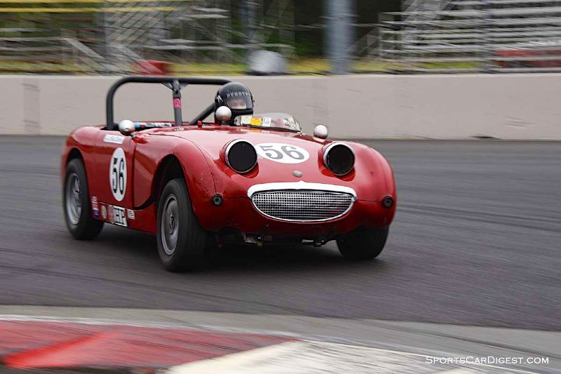 Chip Starr's 1960 Austin Healey Bugeye Sprite at Portland Historic Races 2015