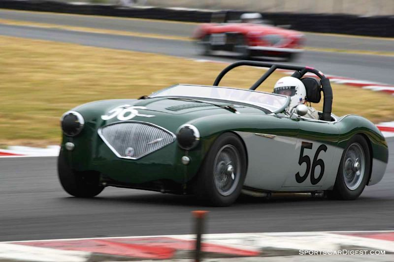 Steve Thomas's 1956 Austin Healey 100M at Portland Historic Races 2015