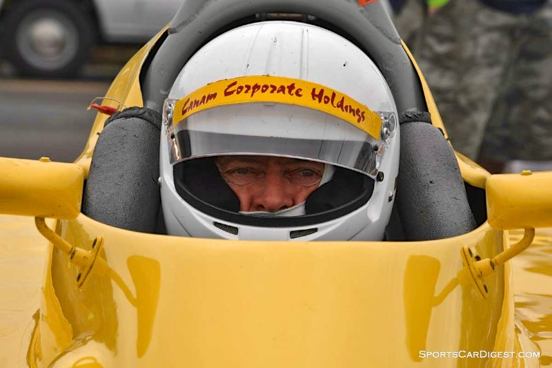 Graeme Cameron inside the 1973 ADF FF at Portland Historic Races 2015