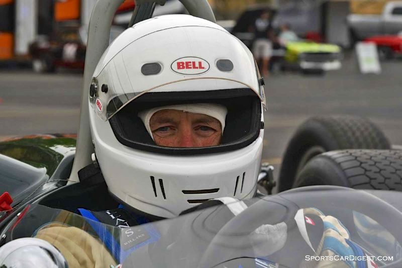 Dave Sweeney behind the wheel of the 1965 Brabham BT-14 at Portland Historic Races 2015