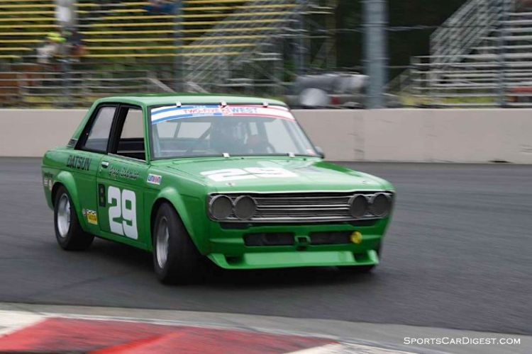 Bill Ockerlund's 1972 Datsun 510 during Portland Historic Races 2015