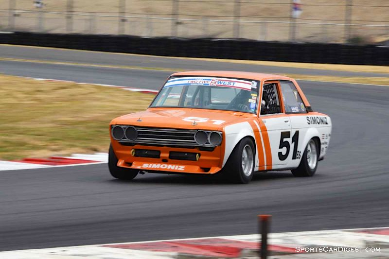 Taz Harvey's 1969 Datsun 510 at Portland Historic Races 2015