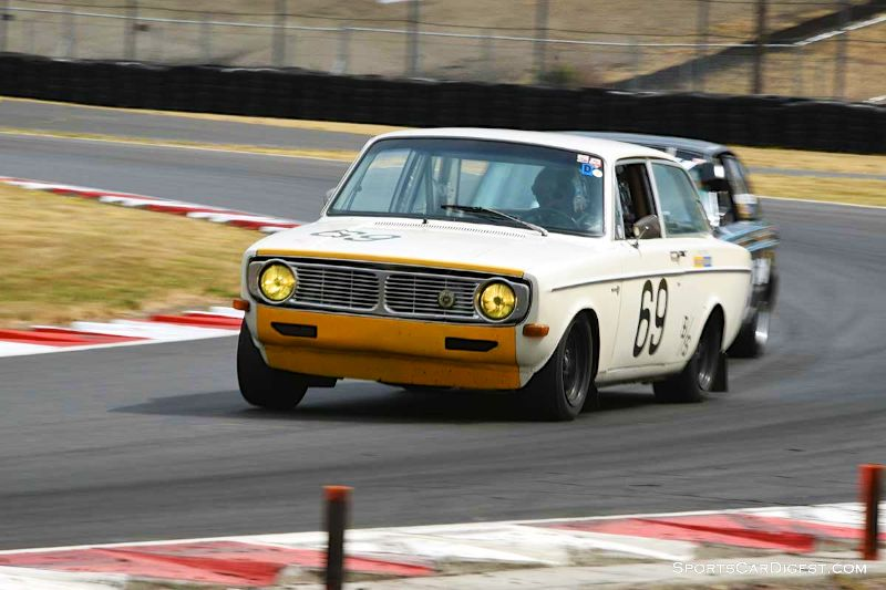Hans Gutmann's 1968 Volvo 142 at Portland Historic Races 2015