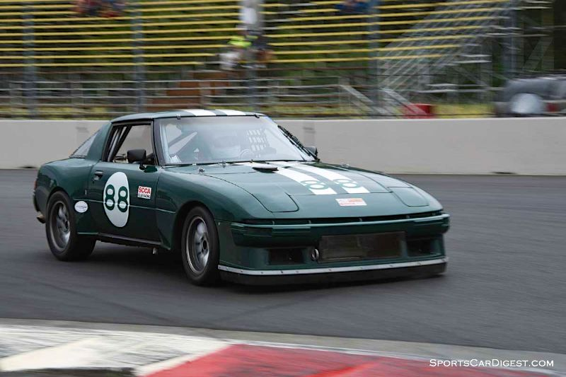 William Duncan's 1978 Mazda RX7 at Portland Historic Races 2015