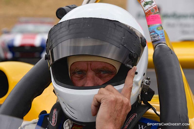 Dave Rugh inside the 1982 Ralt RT5 during Portland Historic Races 2015