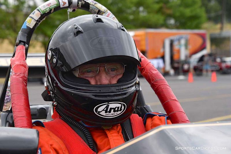 Joe Harding inside the 1986 Ralt RT3 at Portland Historic Races 2015