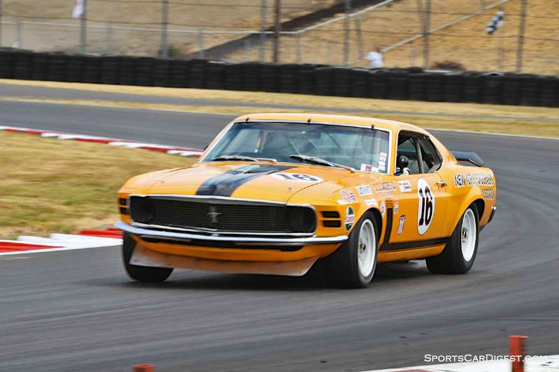 Jim Hague's 1970 Ford Mustang Boss 302 at  Portland Historic Races 2015