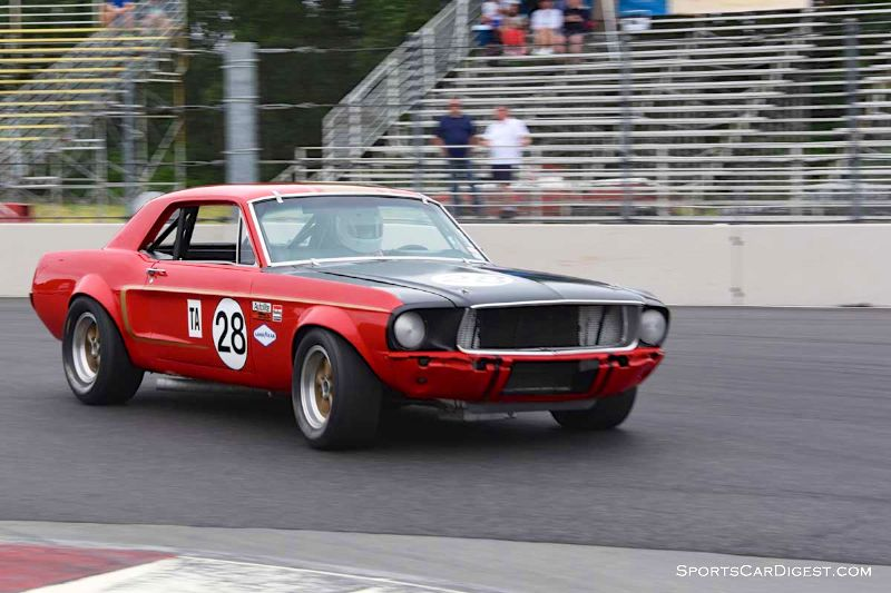 Nick De Vitis' 1968 Ford Mustang at Portland Historic Races 2015