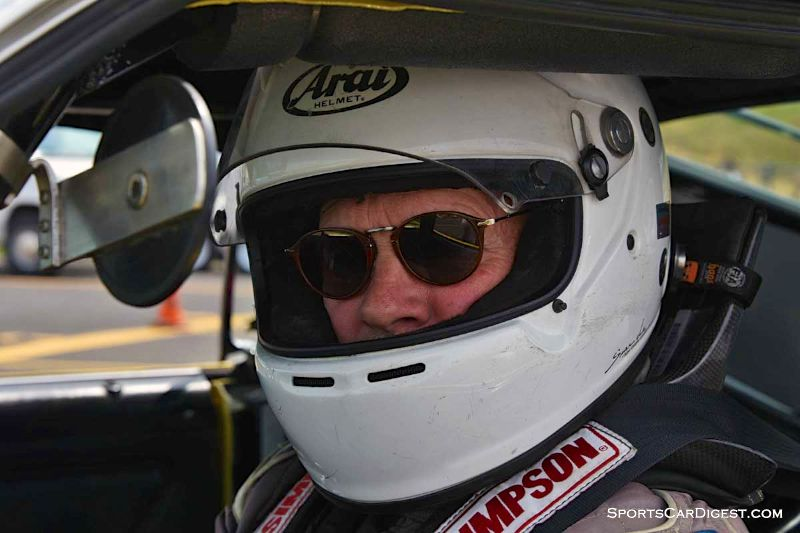 Jim Halsey inside the 1970 Ford Mustang Boss 302 at Portland Historic Races 2015