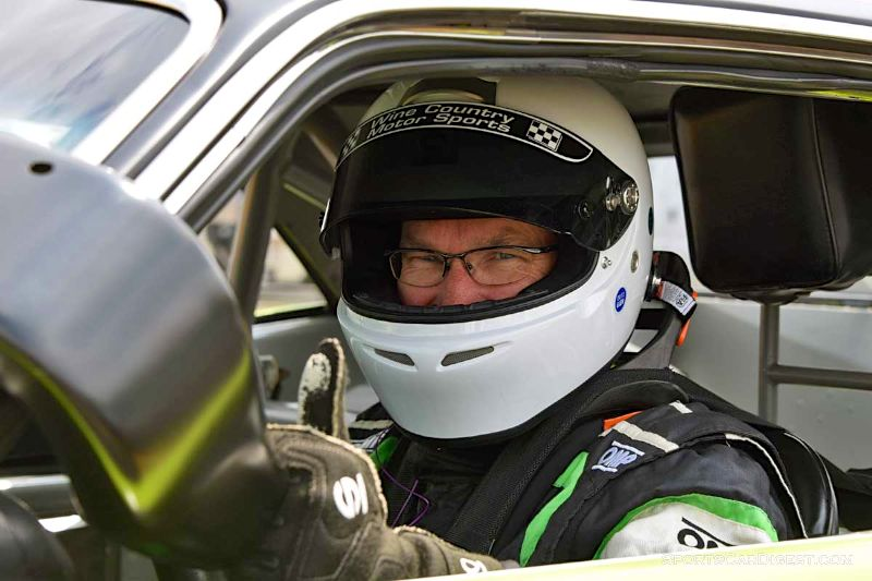 Richard Goldsmith inside the1970 Dodge Challenger at Portland Historic Races 2015
