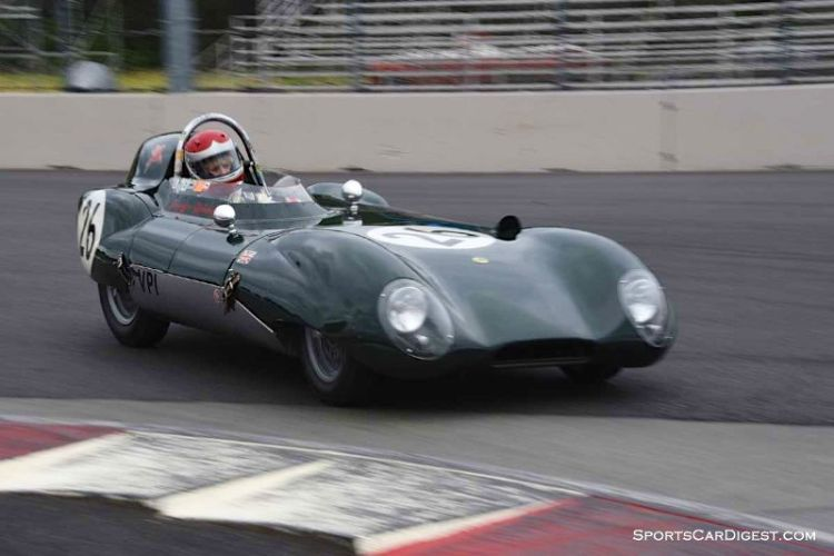 Jacqulyn Mincheff's 1956 Lotus 11 at Portland Historic Races 2015
