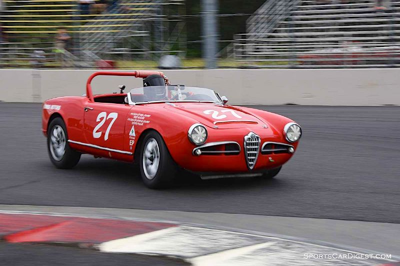 Jerry Pillar's 1963 Alfa Romeo Spider at Portland Historic Races 2015