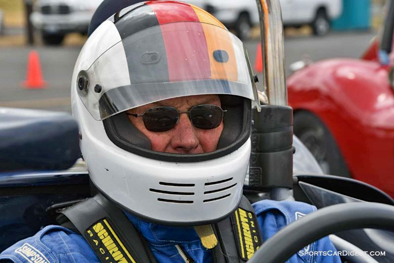 Ron Federspiel inside the 1964 Crusader Sports Racer at Portland Historic Races 2015