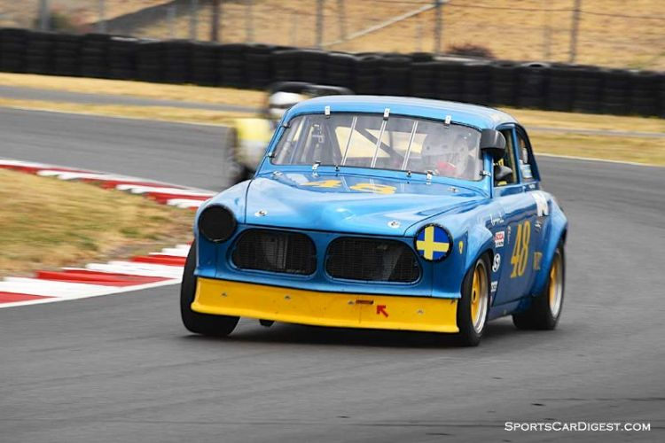 Orvar Litsjo's 1963 Volvo 122 at  Portland Historic Races 2015