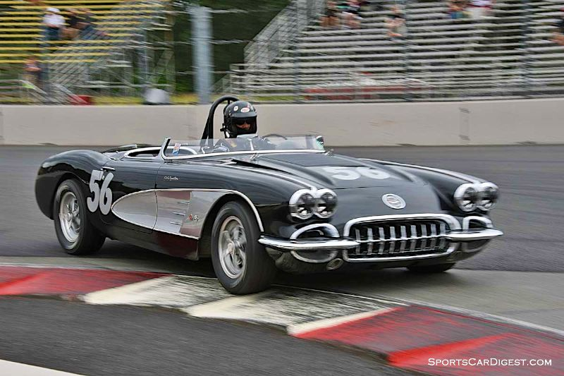 Tony Parella's 1958 Chevrolet Corvette during Portland Historic Races 2015