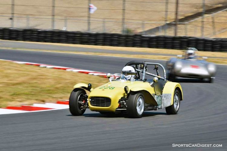 John Mahall's 1962 Lotus Seven at Portland Historic Races 2015