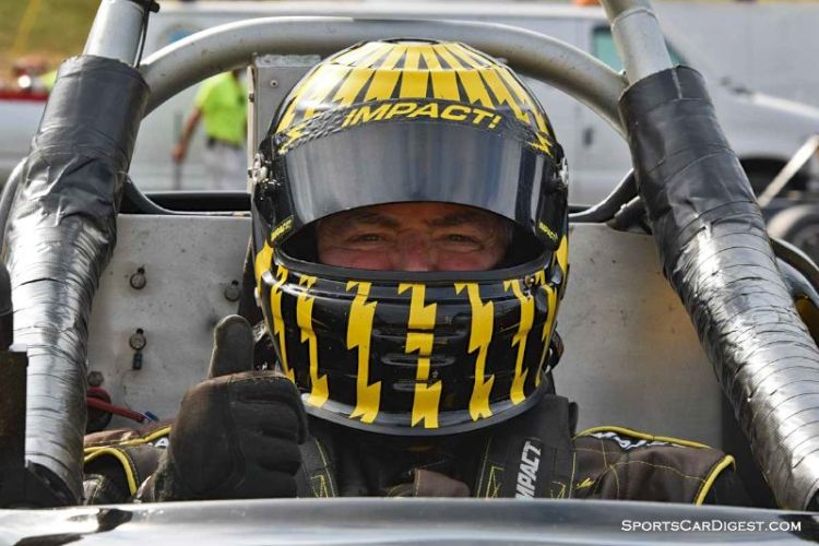 James Cotcher inside the 1998 Ford Spec Racer at Portland Historic Races 2015