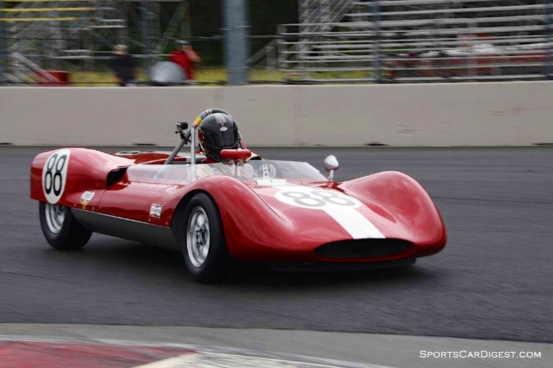 Tom Tuttle's 1961 Huffaker Genie at Portland Historic Races 2015