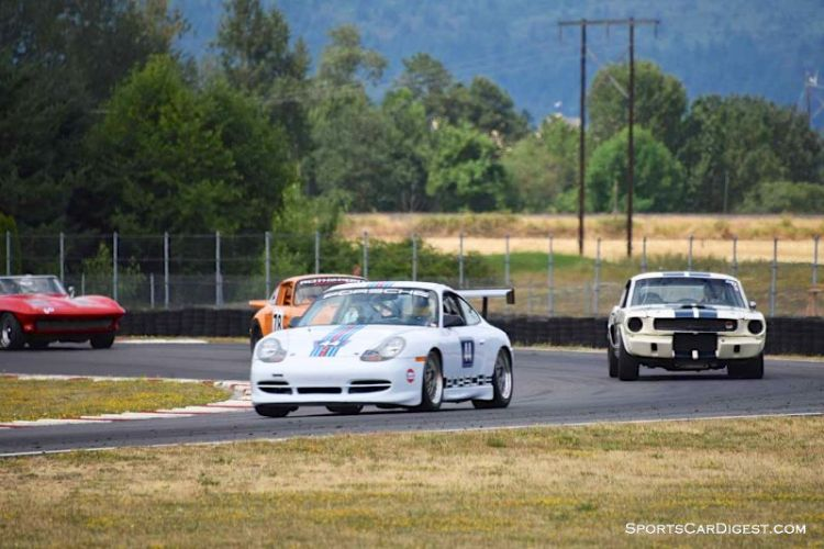 Groups 6 and 10 field at  Portland Historic Races 2015