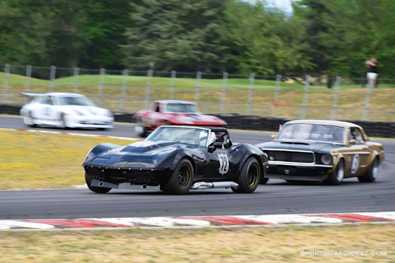 Dave Edelstein's 1969 Chevrolet Corvette at Portland Historic Races 2015