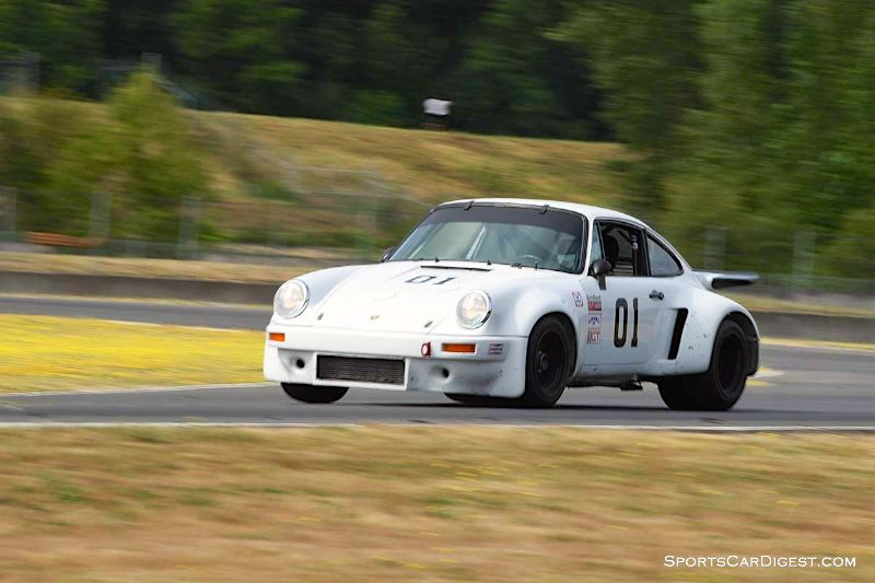 Arthur Connor pilots the 1977 Porsche 911 Carrera RSR during Portland Historic Races 2015