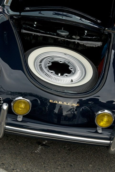Storage space in a 1959 Porsche 356A