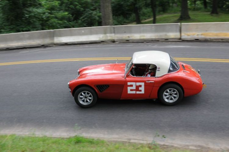 Wolf Peterson, 1962 Austin Healey 3000.