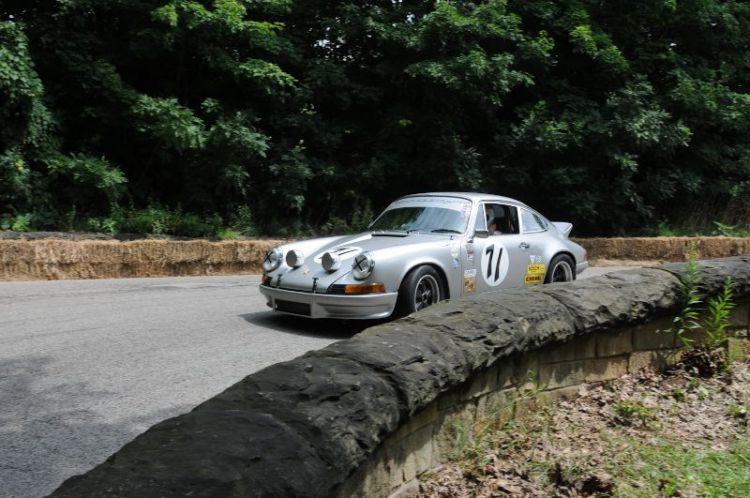 """Steve Limbert make shis way down the """"Serpentine"""" 1972 Porsche 911RS."""