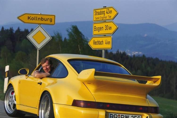 Walter Rohrl in a Porsche 911 Carrera RS 3.8
