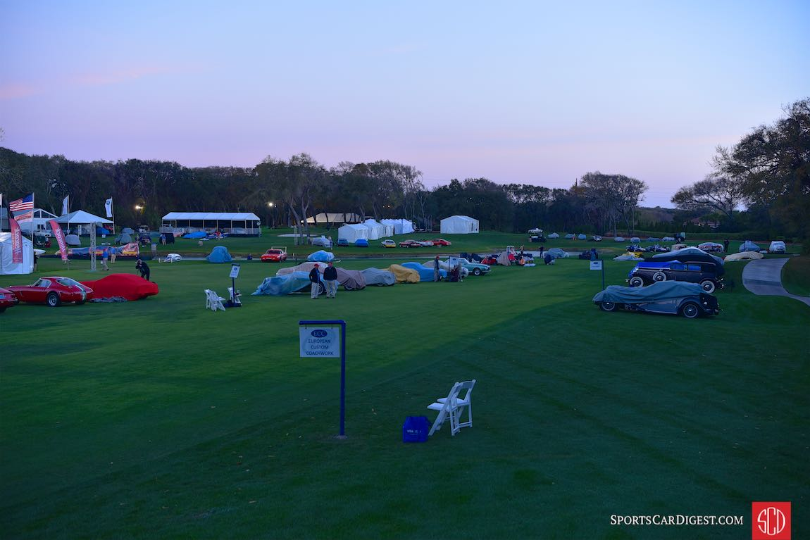 Early morning at the Amelia Island Concours 2017