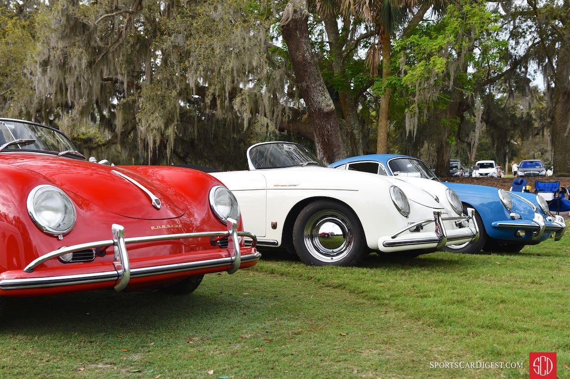 Trio of Porsche 356 variants at the Werks Reunion Amelia Island 2017