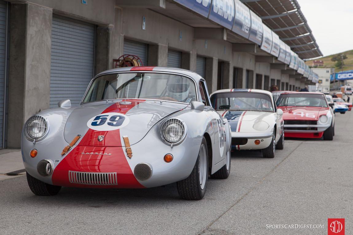 1963 Porsche 356 Super 90 - waiting in the pits